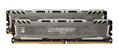 Crucial Ballistix Sport LT BLS2K8G4D32AESEK 3200 MHz, DDR4, DRAM, Desktop Gaming...