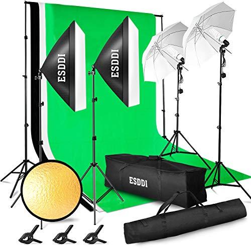 ESDDI Professionelles Fotostudio-Set 2.6M x 3M / 8.5ft...