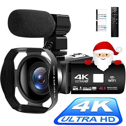 Videokamera 4K Camcorder Ultra HD WiFi Camcorder mit...
