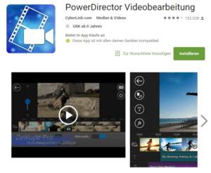powerDirector Videobearbeitung